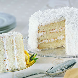 3 layer Coconut cake with double layer of icing