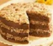 German Chocolate Cake, original, traditional recipe