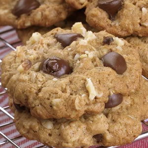 Chocolate Chip Cookies, plump with lots of chocolate