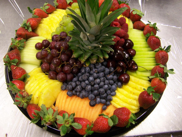 fruit trays coffee fruit
