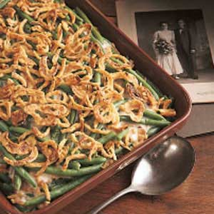 green bean casserole for Holiday dinners